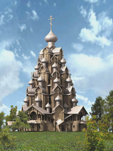 Деревянный Храм Николая Чудотворца на Троицкой горе.