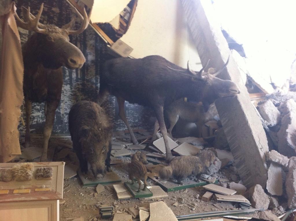 Донецкий Краеведческий музей попал под артиллерийский обстрел