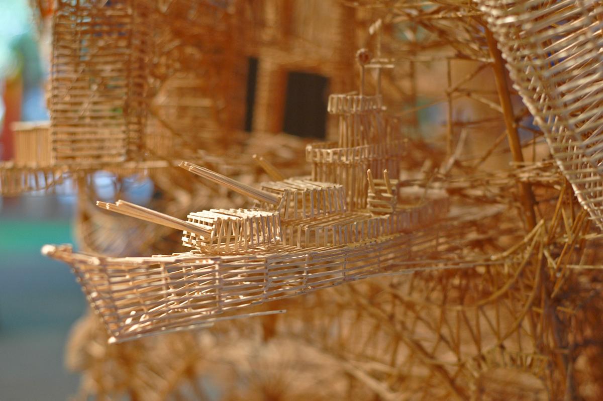 Скульптуры из спичек Скотта Уивера